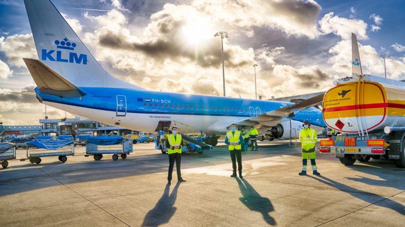 KLM voert eerste vlucht uit met synthetische kerosine