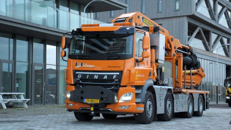 GINAF 8×4 WS voor Hulster Transport & Containerservice