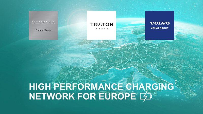 Daimler, Volvo en Traton in Europees oplaadnetwerk