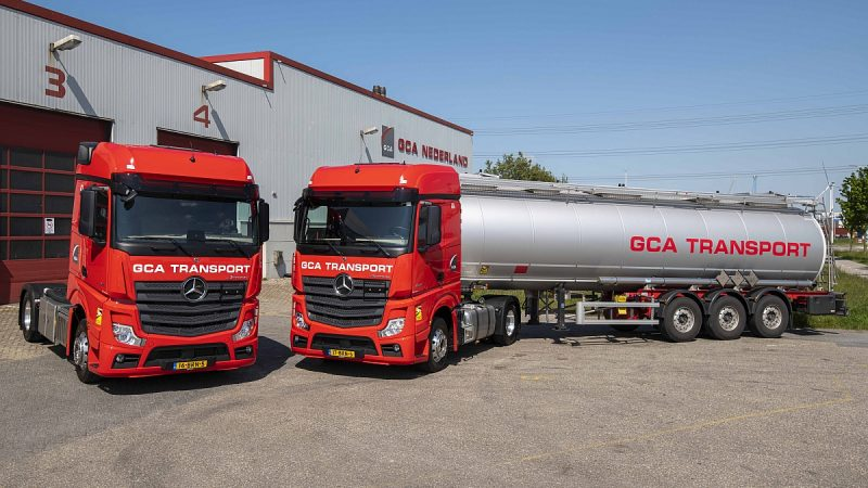 Twaalf Mercedes Actros trucks voor GCA
